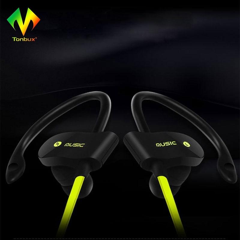 [Genuine]Tonbux Headphone Noise Cancelling Sweatproof Bluetooth 4.1+EDR Headset Sport Wireless In Ear Earphones Gaming wireless bluetooth sport earphone noise cancelling sweatproof earbuds magnetic earphones