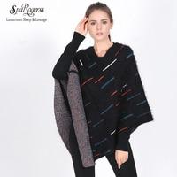 SpaRogerss 패션 여성 판초 겨울 2018 유럽 스타일