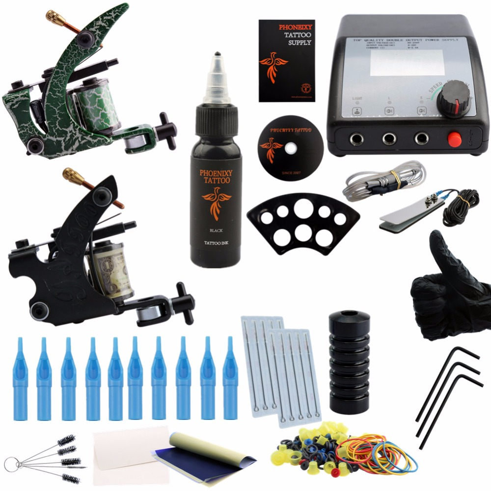 Complete Tattoo kits hotsales 2 tattoo machines guns kits with power needles suppliesTattoo Set Tattoo Kit Professional fuser unit fixing unit fuser assembly for brother dcp 7020 7010 hl 2040 2070 intellifax 2820 2910 2920 mfc 7220 7420 7820 110v
