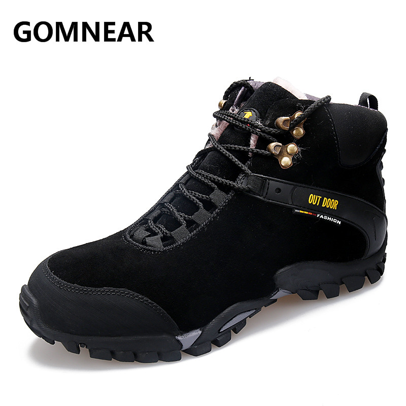 GOMNEAR Winter Warm Plus Fur Men HIking Shoes Outdoor Trekking Wearable Sports Sneakers Big Size Men Free Shipping Hiking Boots рюкзак picard 9809 113 023 ozean page 5