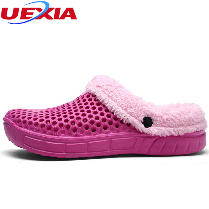 UEXIA Lovely Floor Soft Super Warm With Home EVA Slippers Women Shoes Cotton Winter Plush Winter Comfortable Indoor Fur Slippers plush winter slippers indoor animal emoji furry house home with fur flip flops women fluffy rihanna slides fenty shoes