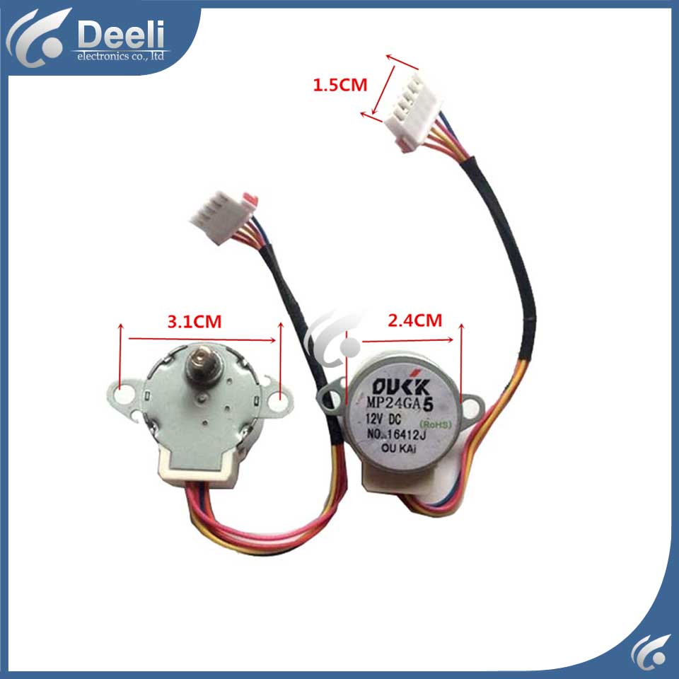 good working for Air conditioner control board motor MP24GA5 = MP24GA  12V motor feed motor board for roland rs 640