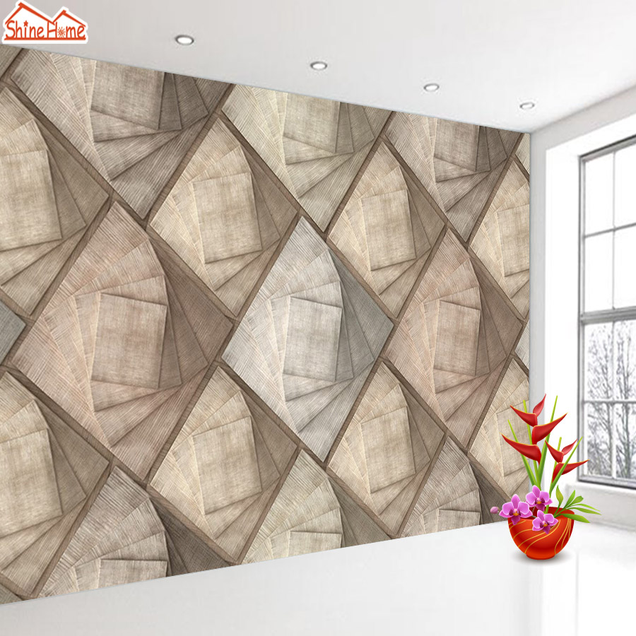 ShineHome-Classical Brick Wood Frame Background 3d Photo Wallpaper Rolls for Walls 3 d Livingroom Wallpapers Mural Roll Paper shinehome nature letter art wood board 3d photo wallpaper rolls for walls 3 d livingroom wallpapers mural roll paper background