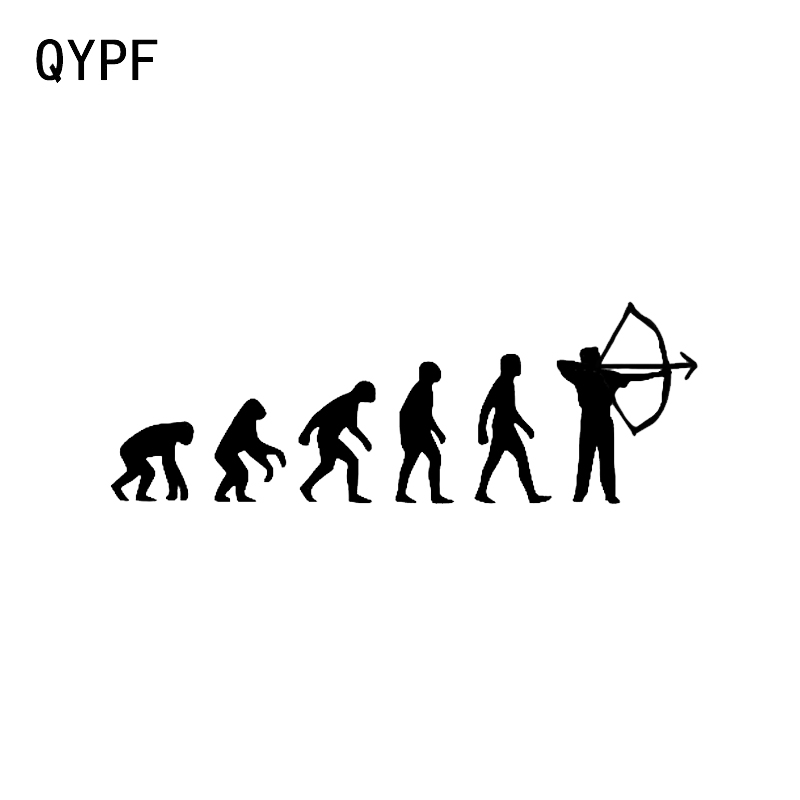 QYPF 15*5.2CM Interesting Crossbow Archery Sport Fitness Decor Vinyl Car Modelling Sticker C16-1613