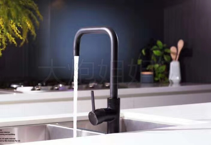 Купить с кэшбэком Free Shipping Modern Black finish  Brass sloid Faucet  Kitchen Sinks Faucet Rotate Hot And Cold Kitchen Faucet