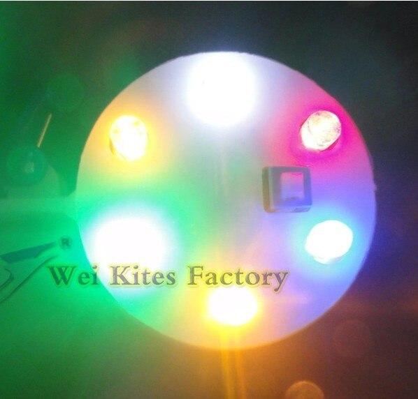 Высокое качество светодиодный воздушный змей свет сверкающий светодиодный свет для больших воздушных змеев с переключателем/6 цветов свет 10 шт./лот воздушные змеи Wei
