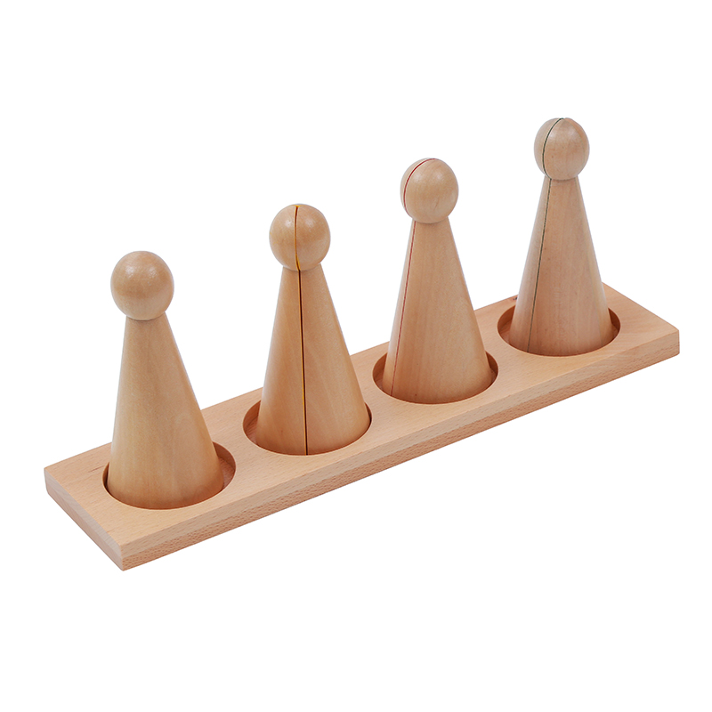 Baby Toy Montessori Large Fraction Skittles With Stand Wood for Early Childhood Education Preschool Kids Brinquedos Juguetes