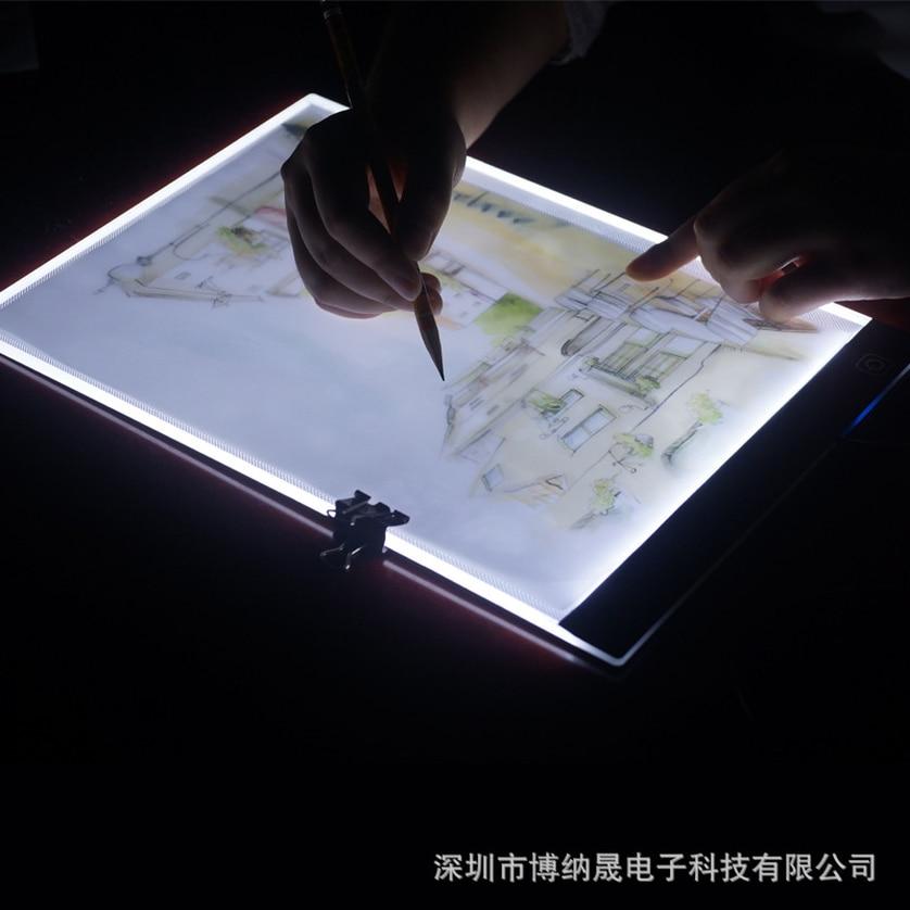 Ultrathin A4 LED Light Tablet Pad Apply to EU/UK/AU/US/USB Plug Diamond Embroidery Diamond Painting Cross Stitch Kits 2019 Hot