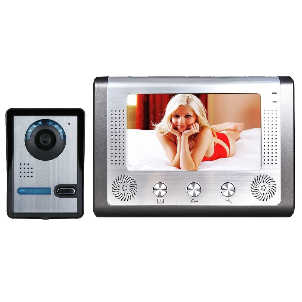 MOUNTAINONE 7 Inch Video Door Phone Doorbell Intercom Kit 1-camera 1-monitor Night Vision