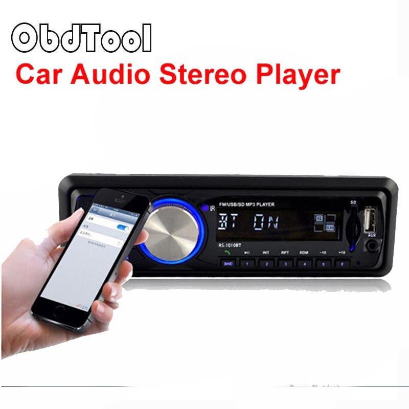 Universel voiture lecteur mp3 voiture Bluetooth haut-parleur chantant AUX-IN MP3 FM/USB/1 Din/télécommande 12 V voiture carte Radio LR30