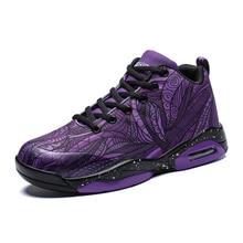 b1fe57e30d0e Sneakers Men Basketball Red Purple Sport Shoes Basketball Male Air Cushion  Design Training Shoes Size 39