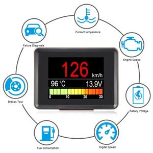 Image 2 - 자동차 온보드 컴퓨터 A203 자동차 디지털 OBD 2 컴퓨터 디스플레이 속도계 연료 소비 미터 온도 OBD2 게이지
