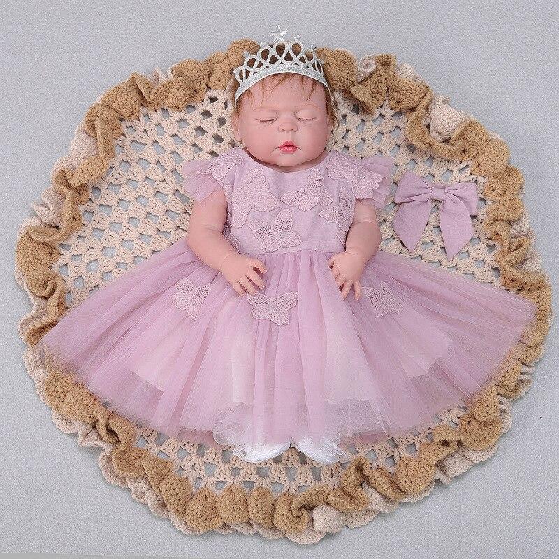 23 pouces Full silicone reborn bébé poupées Jouet Bébé-Reborn réaliste lol d'origine vinyle nouveau-né se baigner princesse bébé Brinquedos jouet