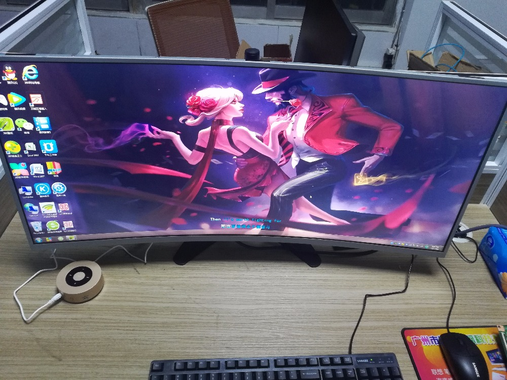 Nouveau panneau LCD incurvé d'origine M350DVR01.0 2 K & 144Hz & 2000R avec carte contrôleur HDMI & DisplayProt pour bricolage Acer Z35 jeu PUBG LOL