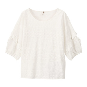 Image 5 - INMAN Summer O neck Literary Embroidery Loose Casual All Matched Half Sleeves Women Shirt