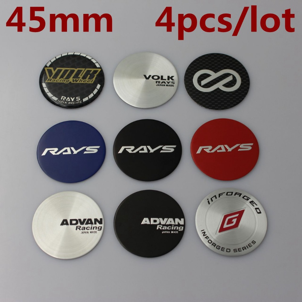 METAL STICKERS WHEELS CENTER CAPS Centro LLantas 4pcs ZENDER