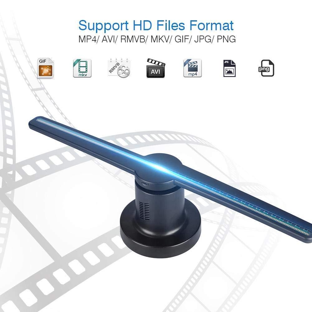 Hologramme 3D publicité ventilateur projecteur lumière magasin affichage holographique LED holograma wifi photos personnalisées vidéos 224 perle de lampe - 3