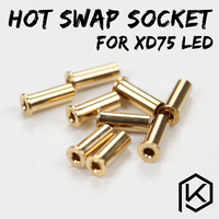 Xd75re xd75 Vergulde hot swap socket voor 3mm leds 234 leds Custom Mechanische Toetsenbord 75 toetsen gh60 kle planck hot-swappable