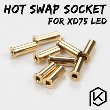 xd75re xd75 Gold-Plated hot swap socket for 3mm leds 234 leds Custom Mechanical Keyboard 75 keys gh60 kle planck hot-swappable(China)