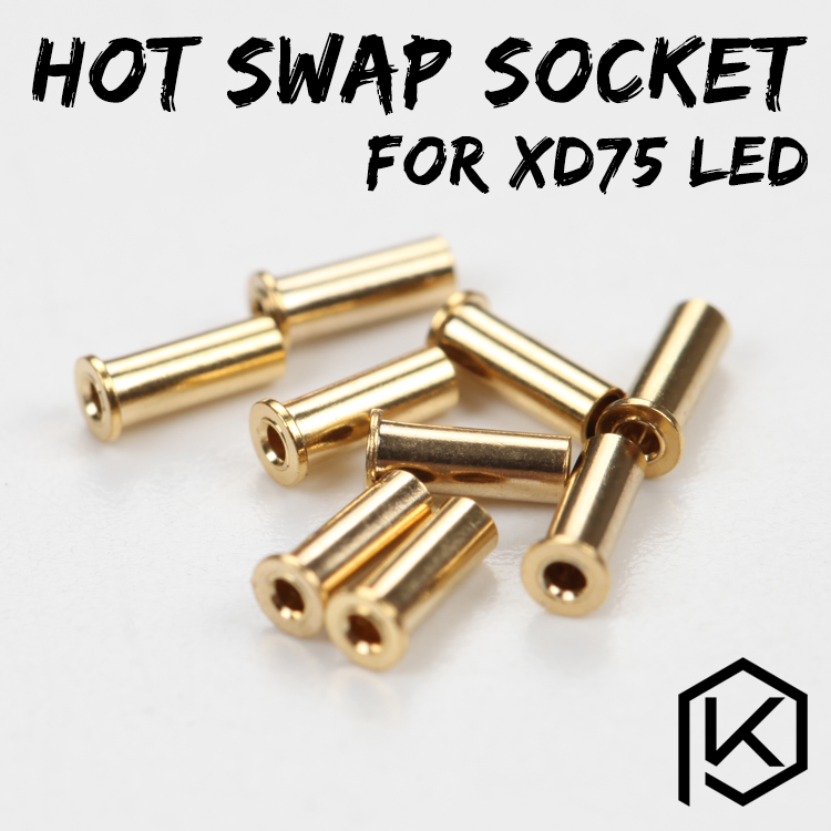 Xd75re Xd75 Gold-Plated Hot Swap Socket For 3mm Leds 234 Leds Custom Mechanical Keyboard 75 Keys  Gh60 Kle Planck Hot-swappable