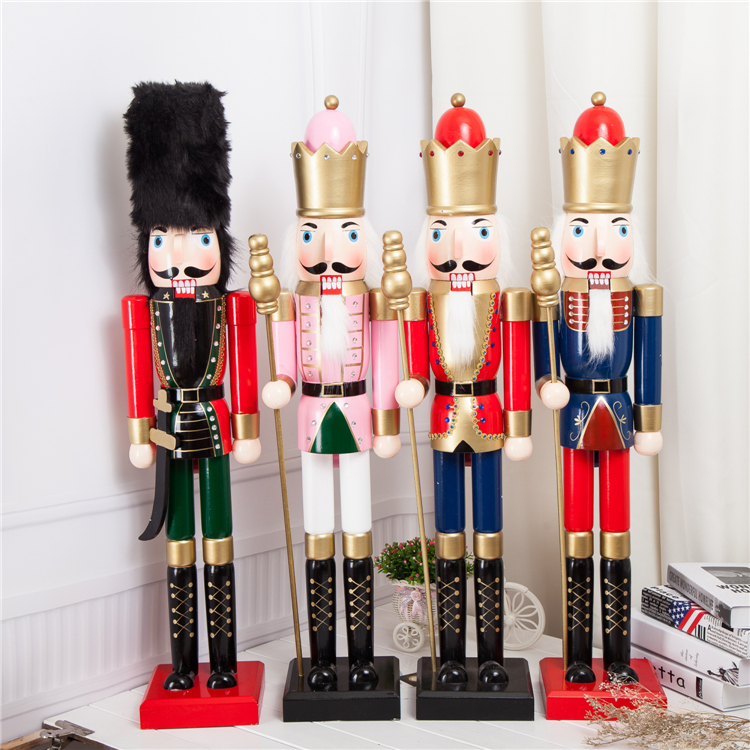 Le nouveau 90 CM grand casse-noisette marionnettes soldats salon Hall hôtel café magasins personnalité décoration décoration