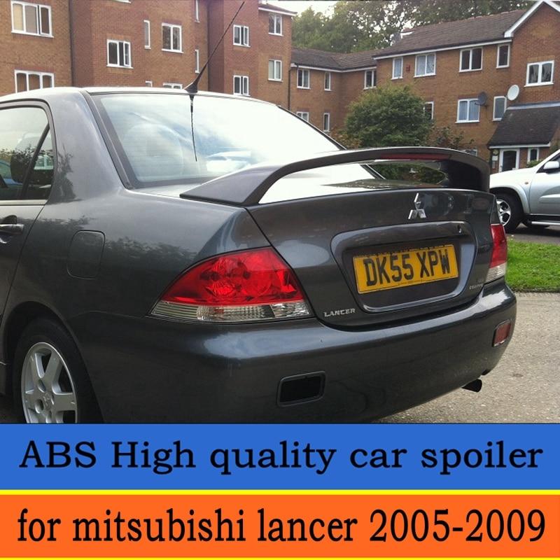 Pour mitsubishi Lancer Spoiler 2005-2009 haute qualité ABS matériel voiture aileron arrière couleur aileron arrière pour mitsubishi LANCER