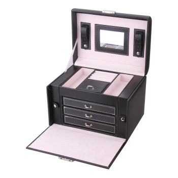 Large Jewelry Boxes Organizer Velvet Case