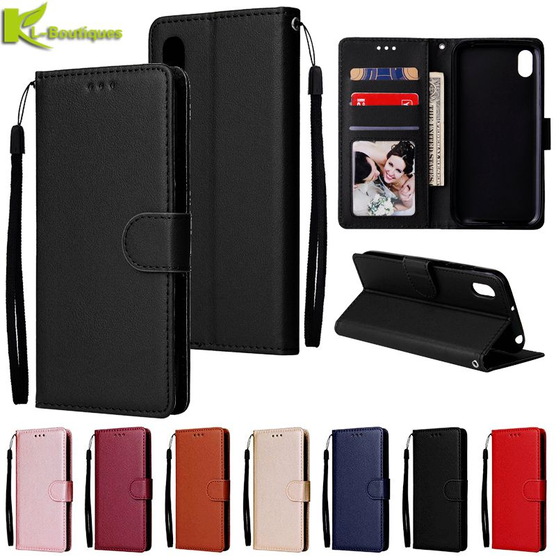 <font><b>redmi</b></font> 7a Leather Case on For Coque <font><b>Xiaomi</b></font> <font><b>Redmi</b></font> 7A 5A <font><b>4A</b></font> 4X 6 5 Plus <font><b>Cover</b></font> <font><b>Redmi</b></font> 8 8A Funda Classic Flip Wallet Phone Cases image