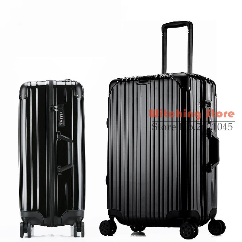 24 INCH 20242629  new rose gold rod box travelling metal bag corner zipper  case universal wheel luggage  EC FREE SHIPPING-in Hardside Luggage from  Luggage   ... 78c0510ad012d