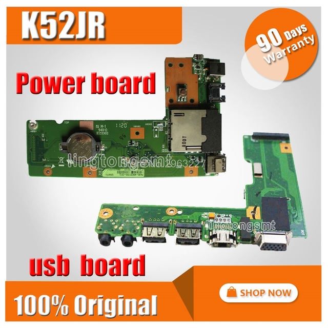 K52 K52J K52JR K52JC K52DR X52F K52F X52J For ASUS USB Board Original DC Power Jack Board 60-NXMDC1000 K52JR DC BOARD