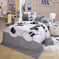 4pcs Cotton Blend Bedding Sets Cartoon Black White Mickey Mouse Bed Set Duvet Cover Bed Sheet Pillowcase Twin king queen size