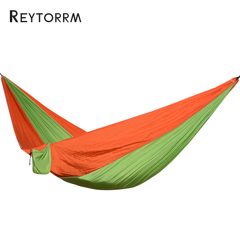 200kg Load-Bearing Parachute Hammock For 1-2 Person Outdoor Camping Relax Hanging Sleeping Tree Bed Nylon Hamak Swing Chair outdoor double hammock portable parachute cloth 2 person hamaca hamak rede garden hanging chair sleeping travel swing hamac