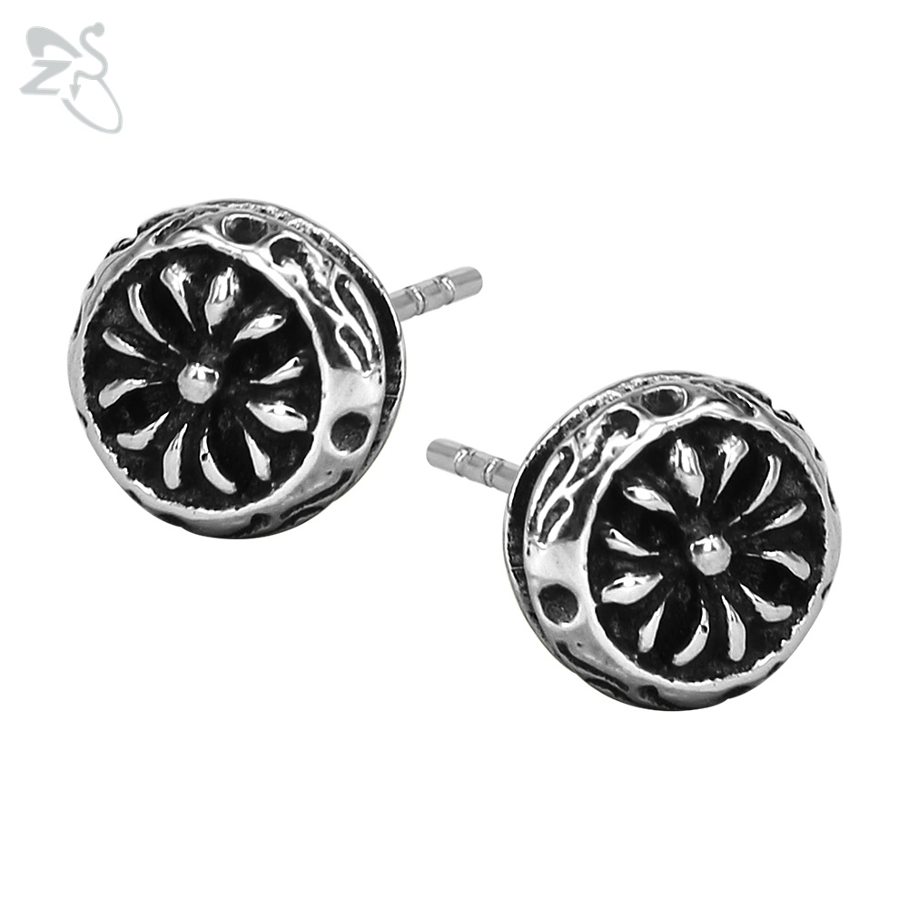 New Pattern Earring Studs Punk Style Surgical Steel Brinco Rock Ear Piercing Cartilage Helix Body Female Man Vintage Accessories