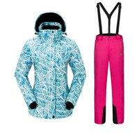 Спорт на открытом воздухе Для женщин лыжный костюм утолщенной теплые дышащие Водонепроницаемый износостойкие быстросохнущая Лыжная куртк...