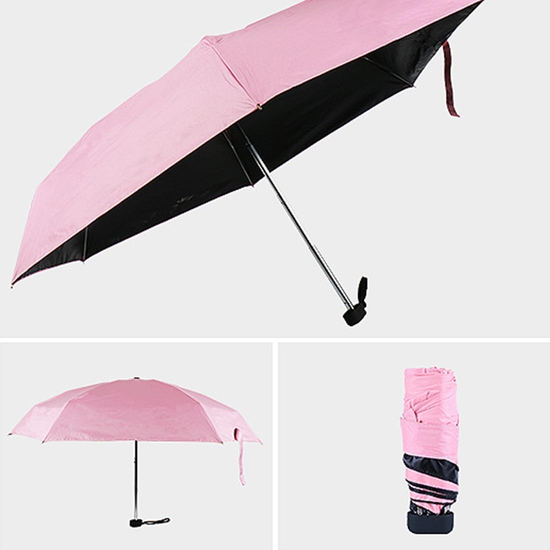 Mini Pocket Umbrella Women Sunny and Rainy Mini Folding Umbrellas 200g Small Sun outdoor Parasol Umbrella