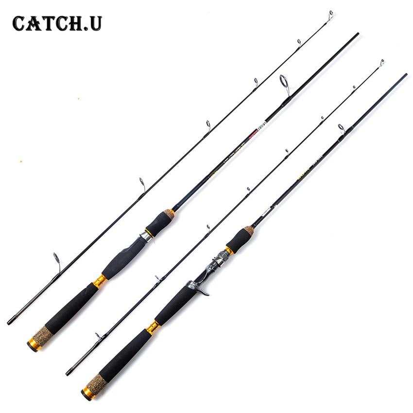 цена Catch.U Spinning Fishing Rods Carbon Telescopic Fishing Pole Casting Spinning Fishing Rod онлайн в 2017 году