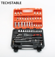 TECHSTABLE High quality 53pcs Home Tools Combination Household Tool Set Hand Tools repair tools