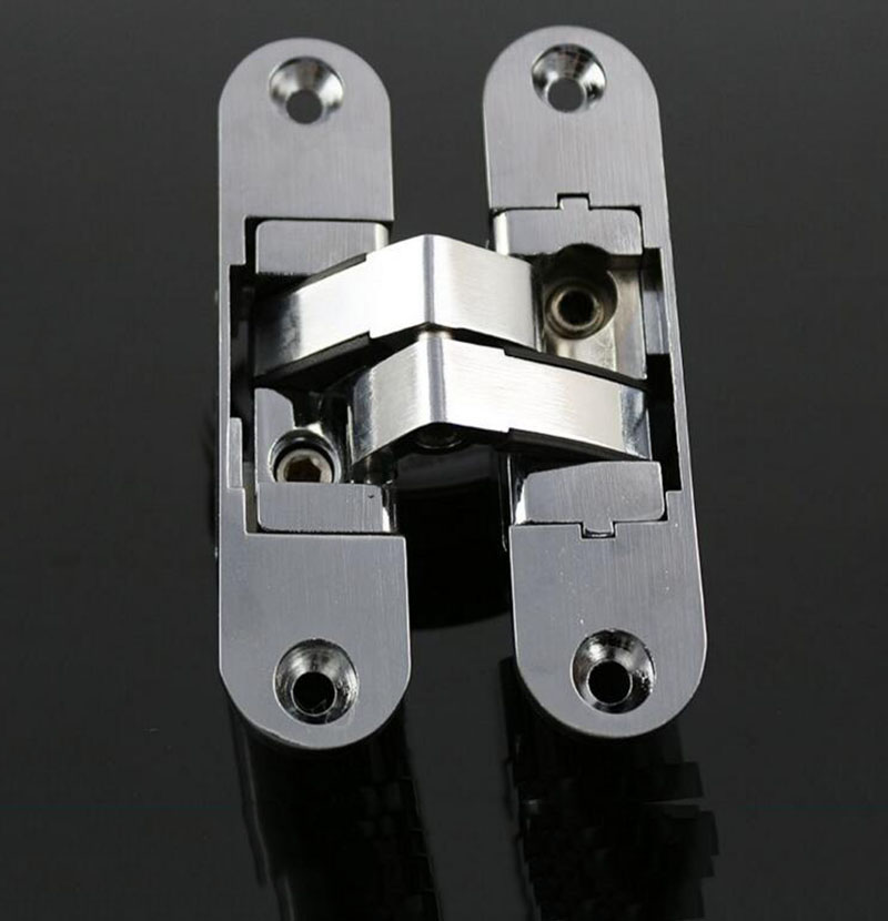 Three dimensional folding adjustable hidden hinge door for Concealed door hinges