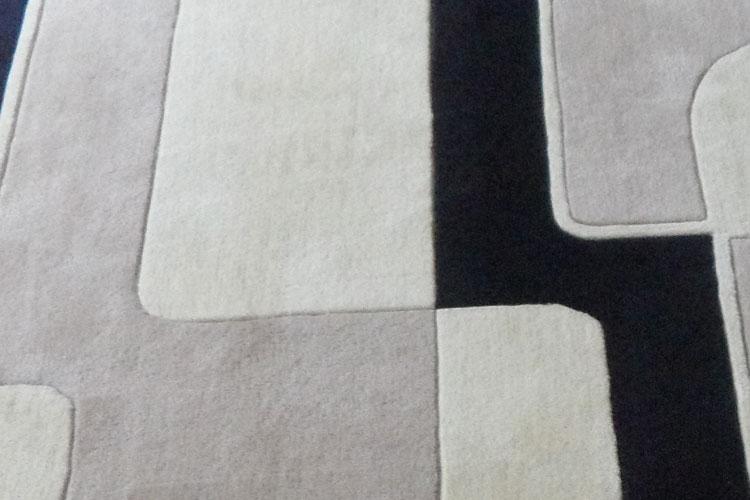 Salon personnalisé table basse chambre moderne minimaliste étude en noir blanc mode Plaid fait main tapis acrylique alfombras - 4