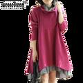 Weonedream qualidade do algodão vestidos de manga longa outono roupas para mulheres grávidas roupas de maternidade para a gravidez nova moda