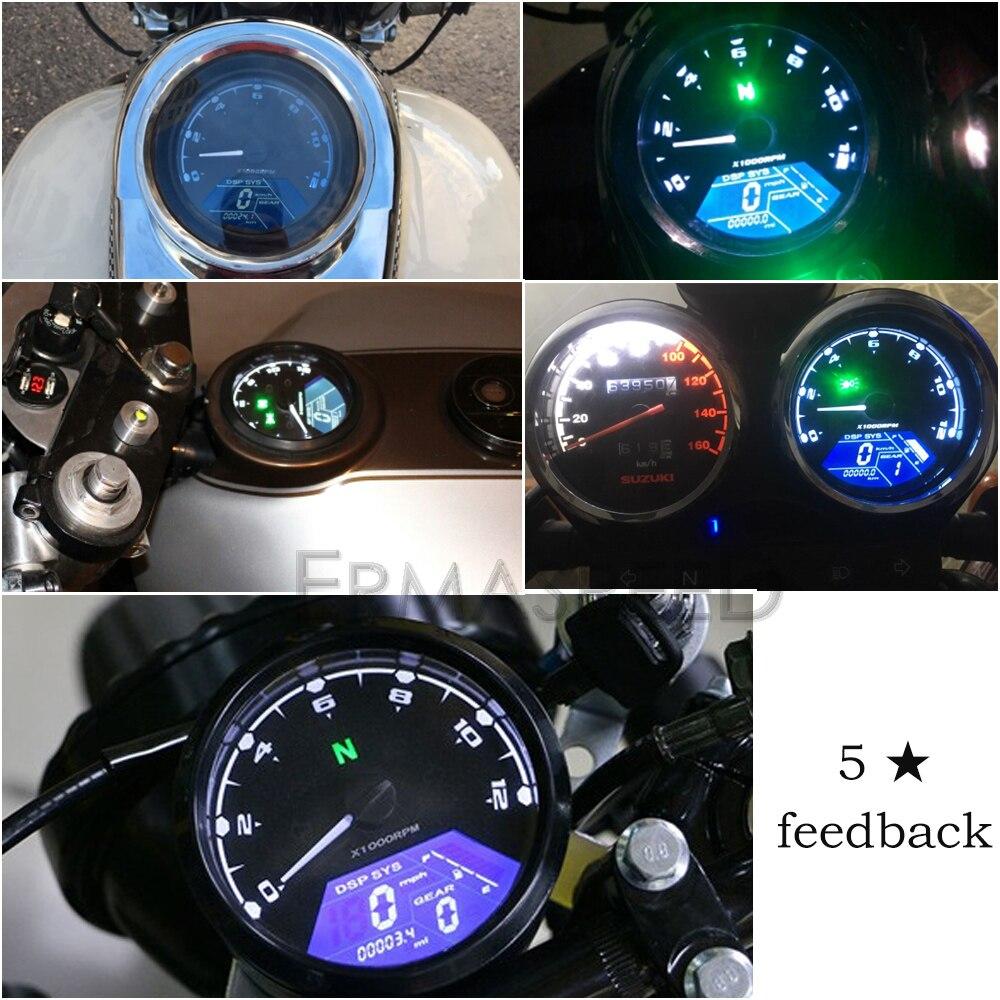 Image 2 - LCD Digital Motorcycle Speedometer Universal Waterproof 12000RPM 8  18V Gear Tachometer Meter Odometer For Yamaha nmax xmax  aeroxInstruments   -