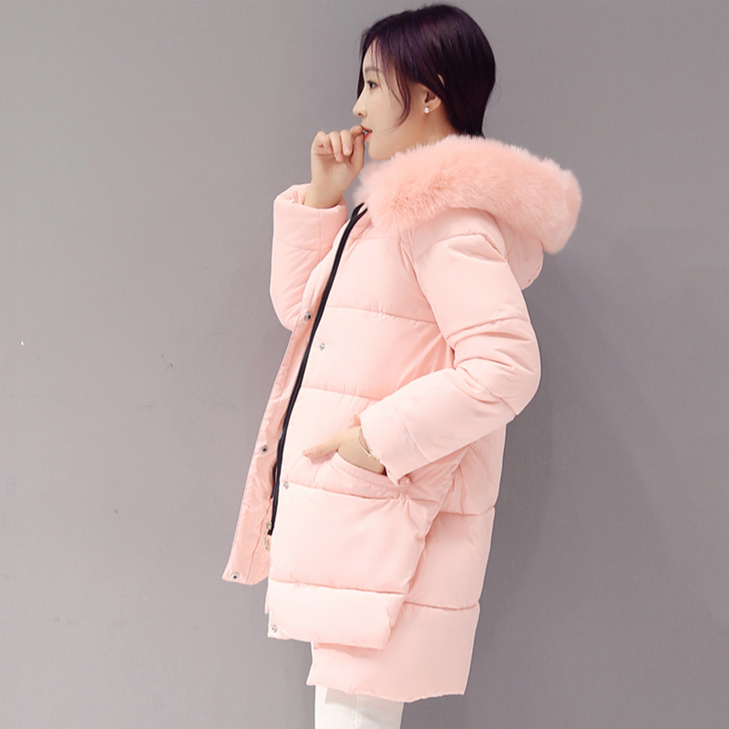 2018 Fashion Winter Jacket Women   Down   Jackets and   Coats   Rabbit Fur Hat Female Warm   Down   Parka Windproof Waterproof   Coat   50