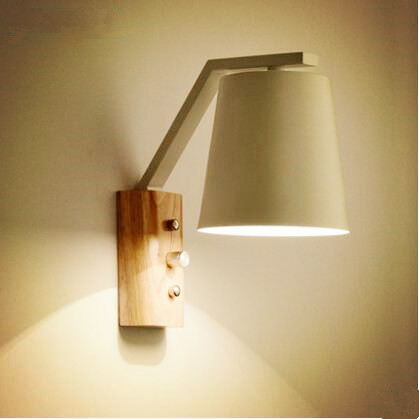 ФОТО Wooden Wall Sconces Nordic Modern LED Wall Lamp Lights For Home Lighting With Switch Aplik Lampara Pared