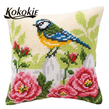 DIY knitting needles kit for embroidery yarn pillowcase cross