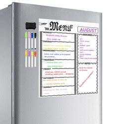 Стирающейся от маркера недельный календарь магнитный A3 белая доска Бакалея список, органайзер для Кухня доска для надписей на холодильник-...