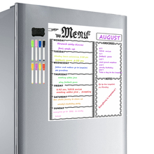 Dry Erase Weekly Calendar Magnetic White Board  Grocery List Organizer For Kitchen Refrigerator Whiteboard   Smart Planners
