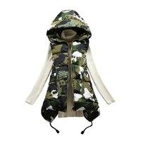 Brieuces 2019 New Winter Vest women Casual Autumn Winter Sleeveless Waistcoat Hooded Long Warm Cotton Padded Top Vest Jacket