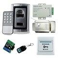 Control de Acceso completo kit set Caja de Metal sistema de Control de Acceso de Huellas Digitales A Prueba para 1000 usuarios
