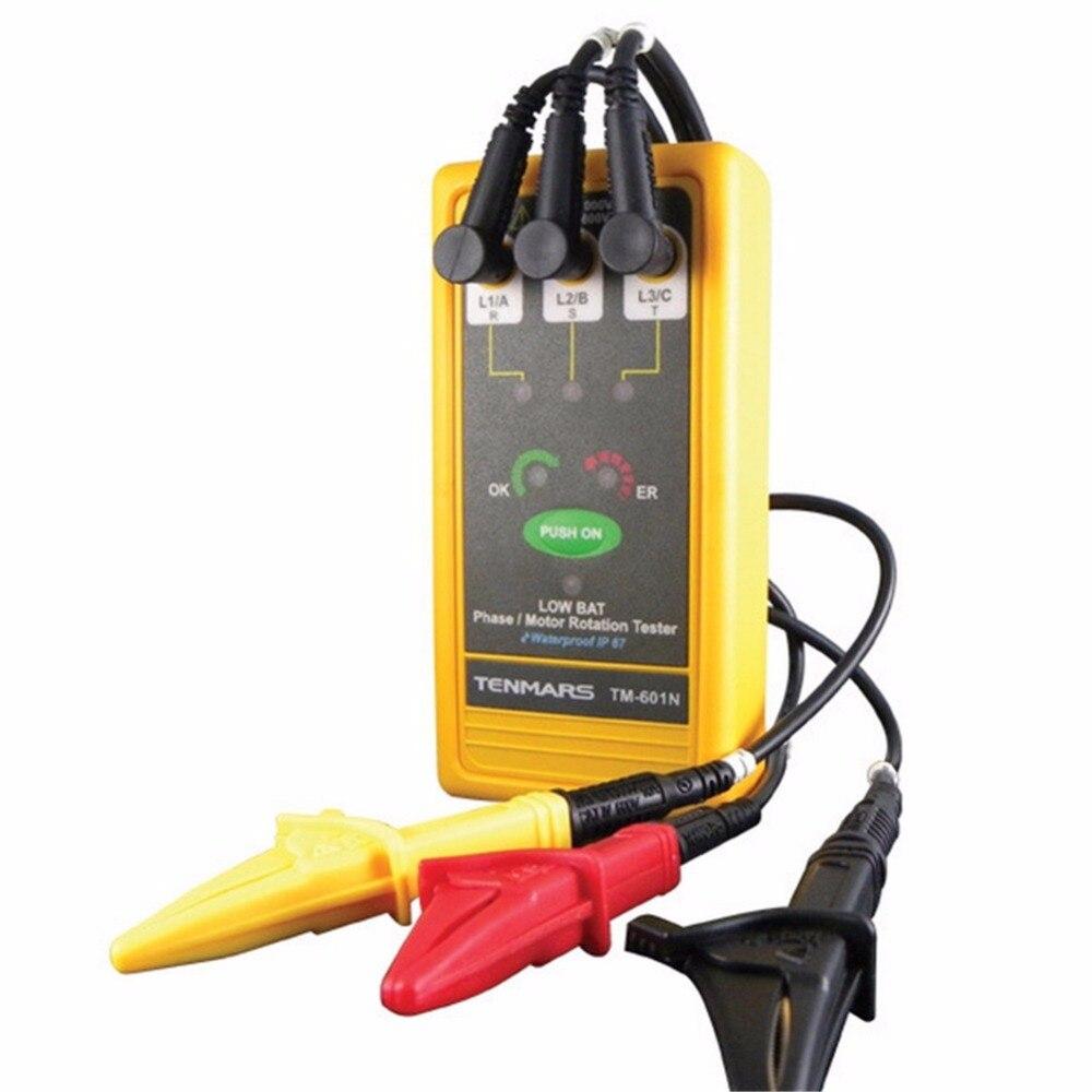 TM-601 imperméable de testeur de Rotation d'alimentation/moteur de 3 phases
