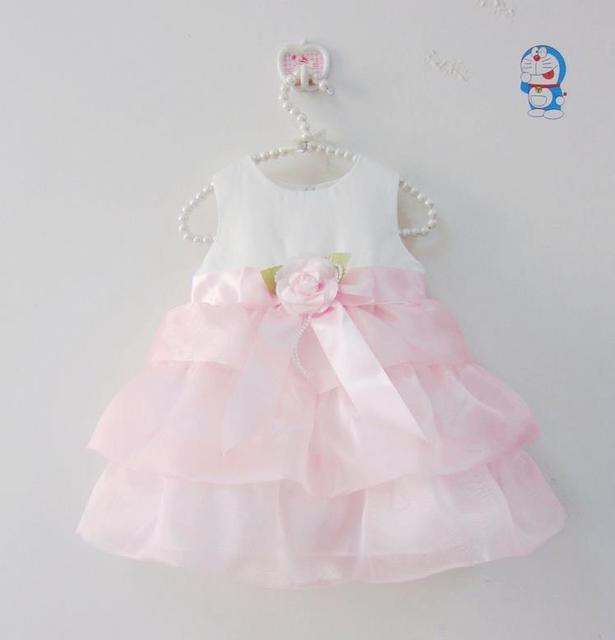 2016 Summer Flower Girl dress baby sleeveless Baptism dress girls clothes baby wedding party dress for birthday newborn dress